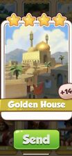 X 5 Golden House Cards from Sinbad Set Coin Master Card ( Fast Send )
