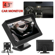 4.3'' LCD Car Rear View Monitor With Reversing Camera Waterproof Night Vision !