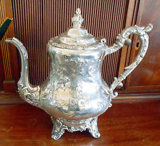 1850s American Coin Silver Repousse Teapot Wm Gale & Son Ny ~ Nr ~