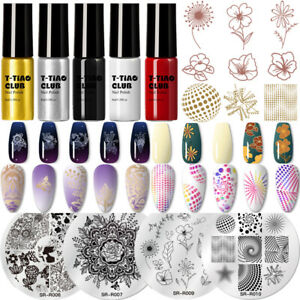 T-TIAO CLUB Nail Art Stamping Polish Template Painting Varnish Stamp Plate Set
