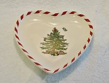"""SPODE CHRISTMAS TREE PEPPERMINT 6"""" CANAPE / APPETIZER PLATE HEART (MSRP=$22.50)"""