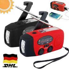 Solar Handkurbel Radio AM / FM Notfall Dynamo Taschenlampe Telefon Ladegerät DE