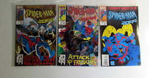 Spider-Man 2099 Lot of 3 #7,8,9 DC Comics (1993) NM- 1st Print Comic Books
