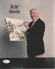 Mort Walker Hand Signed 8x10 Photo Awesome Beetle Bailey Cartoonist Jsa