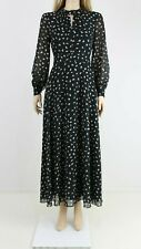 Hobbs Women's Black Long Evening Cocktail Maxi Dot Print Dress UK 8 36 £160