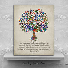 (LT-1396) Personalized Gift For Mother Poetry Family Tree Thank You Gift For ...