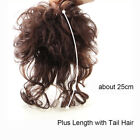Women Curly Toupee 100 Human Hai rClip in Top Hairpiece Topper Hair Extensions