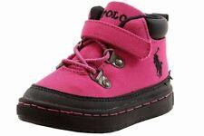 Polo Ralph Lauren Toddler Girl's Logan Hiker Preppy Pink Boots Shoes