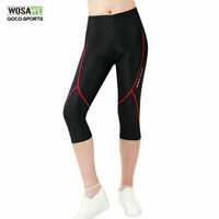 Women's Cycling Bicycle Bike Capri Shorts 3D Padded 3/4 Pants Tights Ladies S-XL
