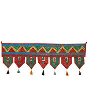 MultiColor Patch Work Toran Floral Cotton Door Hanging Ethnic Wall Hanging