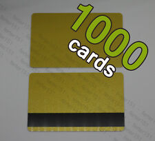 1000 Gold Pvc Plastic Bank Credit Cards HiCo Magnetic Stripe 3 Track - Cr80