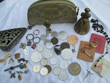 Vintage JUNK DRAWER Lot Estate Find Jewelry Coach Sterling G.F Collectibles etc