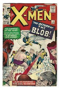 X-Men #7 ( Sept 1964, Marvel ) VG- 2nd App of Blob.