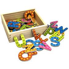 Holzbuchstaben oder Zahlen ABC Magnet Buchstaben Holz Set Alphabet Kinder