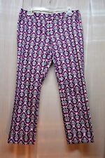 The LIMITED  Magenta & Black Floral Print Cropped  Pants  Size: 4