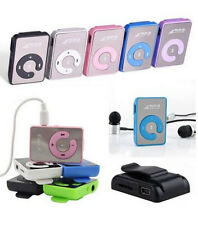 Mirror Clip USB Digital Mp3 Music Player Support Up 8GB SD TF Card USB+Gift
