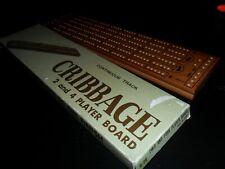 Continuous Track Wood Cribbage Board Game Original Box B-28 - Japan  Vintage