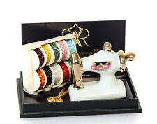 1:12 - Reutter -Miniatur Porzellan Nähmaschiene-Set - Puppenhaus Miniatur