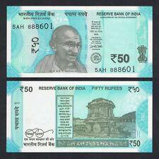 INDIA 50 RUPEES 2017 UNC NEW DESIGN & NEW COLOR - GANDHI P.NEW