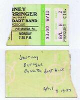 ORIGINAL Vintage April 4 1977 Journey / Rick Derringer Ticket Stub Pittsburgh