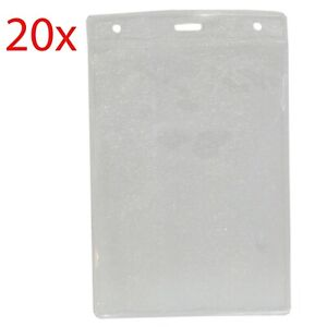 20x ID Pouches Portrait Exhibition Card Holder JUMBO Size 152x107mm