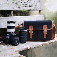 New Vintage canvas Leather DSLR SLR Camera Shoulder Bag For Canon Sony Nikon