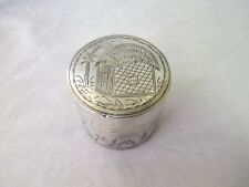 ANTIQUE SOLID SILVER JEWELLERY BOX TRINKET RING ENGRAVED FAR EAST C 1940