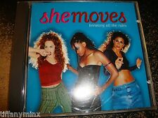SHEMOVES cd BREAKING ALL THE RULES she moves free US shipping