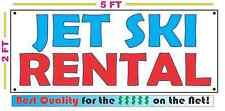 JET SKI RENTAL All Weather Banner Sign NEW High Quality! XXL Lake Dock Trailer