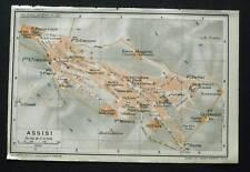 Antica Stampa=Topografica= ASSISI =Scala1:11000 -1907c