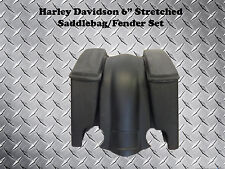 "Harley Davidson 6"" Stretched Bagger Saddlebags & Fender - Motorcycle Saddle Bags"