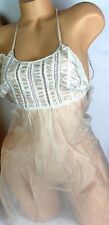 VICTORIA'S SECRET DESIGNER COLLECTION SILK LNGERIE BABYDOLL GOWN SMALL NEW S188