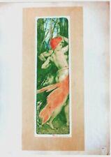 Original vintage print L'ESTAMPE MODERNE BERCHMANS c.1897