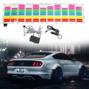 Car Rear Windshield Sticker Music Rhythm LED Light Sound Activated Equalzer