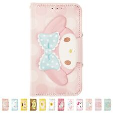 Sanrio Face Button Diary Flip Cover Galaxy S20 Ultra S10 Note20 Note10 Plus Case