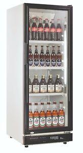 Flaschenkühlschrank Getränkekühlschrank 230 Liter mit Glastür, schwarz Gastro