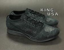 Mns/Wmns Nike Flyknit Racer 526628-009 Running Shoes Black Size 11 Mns/12.5 Wmns
