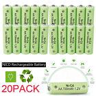 20Pack AA Rechargeable Batteries NiCd 700mAh 1.2v Garden Solar Ni-Cd Light LED
