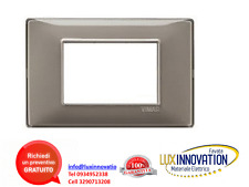 VIMAR PLANA 14653.40 - Placca 3M Reflex cenere  placca vimar plana reflex cenere