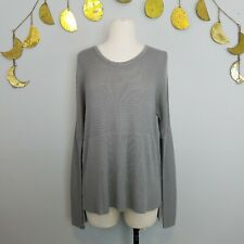 Helmut Lang Sweater Light Ribbed Knit Tunic Long Sleeve Womens Sz Small