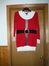 Long Sleeve Hoilday Tunic Sweater size SM United States Sweaters Red White & oth
