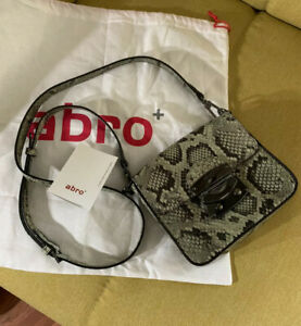 Abro Damen Leder Umhängetasche Bag Schlangen Muster