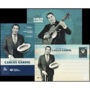ARGENTINA/POSTAL STATIONARY, 2020 - CARLOS GARDEL - TANGO - CINEMA - NEW