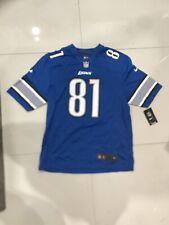 NFL Nike Detroit Lions  Calvin Johnson #81 Jersey SZ Large 468952-484 Megatron