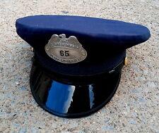 Vintage US Post Office Hat w/ No. 65 Letter Carrier Metal Badge Fechheimer Bros.