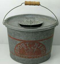 Vintage Sport King Oval Minnow Bucket Wood Handle