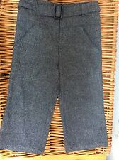 PETIT FAUNE Boys Girls Unisex NAVY TWEED Belted DRESS PANTS 3A 3 Toddler FRANCE
