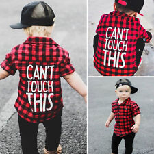 Boys Shirt Long Sleeve age 1 -7 years Red & Black Plaids Blouse Kids Clothes