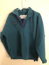 Columbia Womens Medium Green Blue Jacket Pullover Elastic toggle