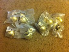 Lot Of (8) Brass Door Knobs Round New